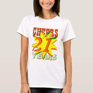 Cheers To 21 Years Birthday T-Shirt