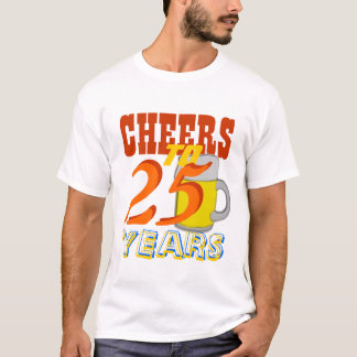 Cheers To 25 Years Beer Birthday Party T-Shirt