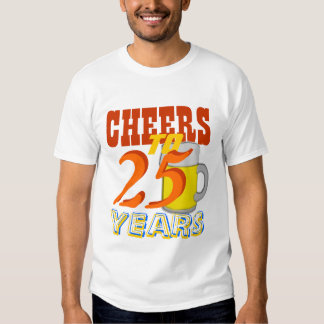Cheers To 25 Years Beer Birthday Party Tee Shirt
