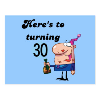 Cheers to 30 Birthday Tshirts and Gifts Postcard