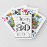 "Cheers to 30 Years Bicycle Playing Cards<br><div class=""desc"">Cheers to 30 Years</div>"
