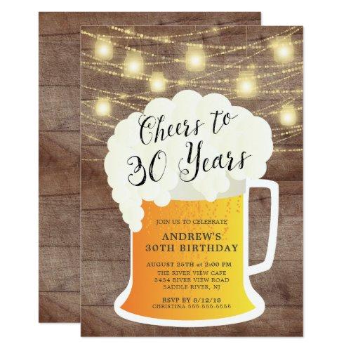 Cheers to 30 Years Birthday Invitation