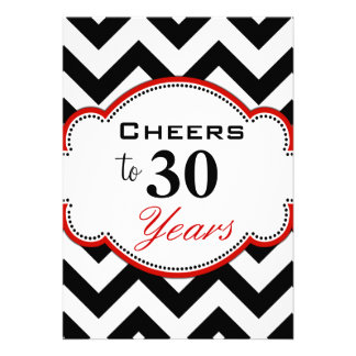 Cheers to 30 Years Party Invite