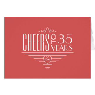 Cheers to 35th Anniversary Greeting Card