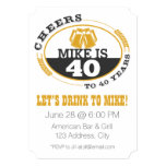Cheers to 40 Years 5x7 Paper Invitation Card