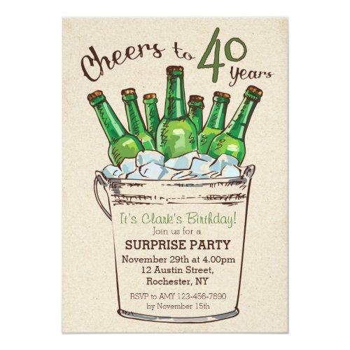 Cheers to 40 years Birthday Invitation
