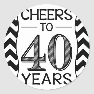 Cheers to 40 Years Classic Round Sticker