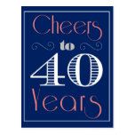 Cheers to 40 Years Postcard