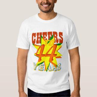 Cheers To 44 Years Tee Shirt