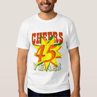 Cheers To 45 Years Happy Birthday Shirt