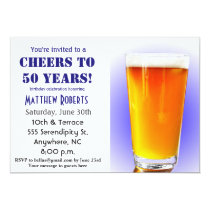 Cheers to 50 Years 50th Birthday Invitation