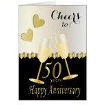 Cheers to 50 years Anniversary Card