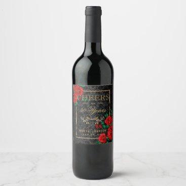 designsbydonnasiggy Cheers to 50 Years - Any Birthday Wine Label