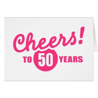 Cheers to 50 years birthday card