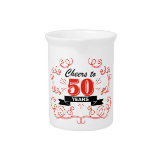 Cheers to 50 years drink pitcher