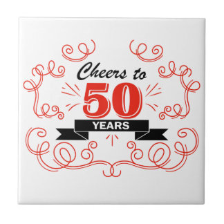 Cheers to 50 years tile