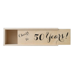 Cheers to 50 Years Wooden Wine Box