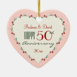 Cheers to 50th Wedding Anniversary Christmas Gifts Christmas Ornaments