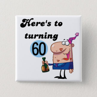 Cheers to 60 Birthday Tshirts and Gifts Button