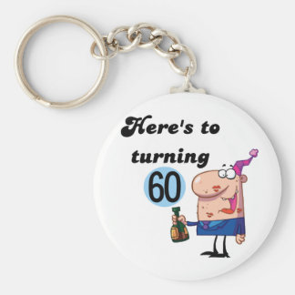 Cheers to 60 Birthday Tshirts and Gifts Keychain