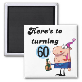 Cheers to 60 Birthday Tshirts and Gifts Magnet