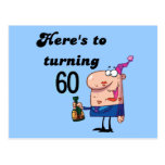 Cheers to 60 Birthday Tshirts and Gifts Postcards