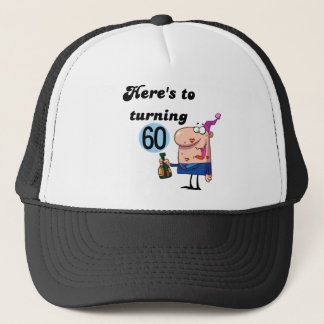Cheers to 60 Birthday Tshirts and Gifts Trucker Hat