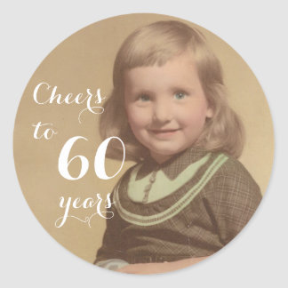 Cheers to 60 Years! Classic Round Sticker