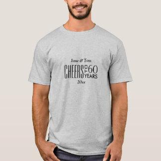 Cheers to 60 Years Wedding Anniversary Gift T-Shirt