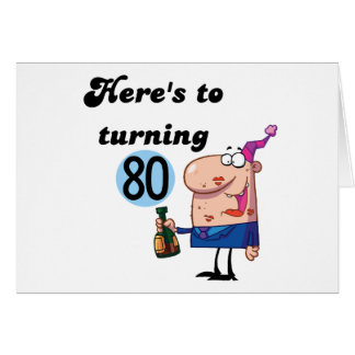 Cheers to 80 Birthday Tshirts and Gifts Greeting Card
