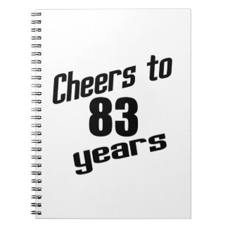 Cheers to 83 years notebook