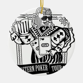 CHEERS TO EASTERN POKER TOUR CERAMIC ORNAMENT