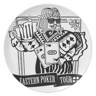 CHEERS TO EASTERN POKER TOUR DINNER PLATE