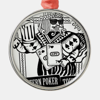 CHEERS TO EASTERN POKER TOUR METAL ORNAMENT