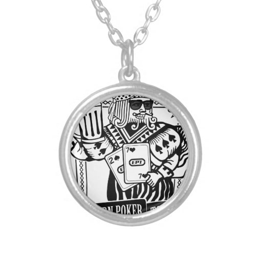 CHEERS TO EASTERN POKER TOUR ROUND PENDANT NECKLACE