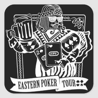 CHEERS TO EASTERN POKER TOUR SQUARE STICKER