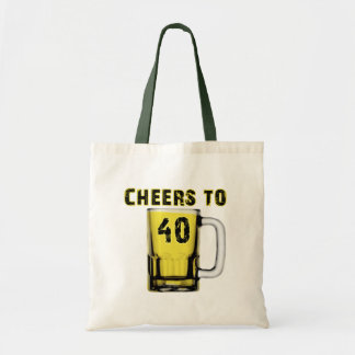 Cheers to Fourty Birthday Canvas Bags