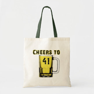 Cheers to Fourty One Birthday Canvas Bags