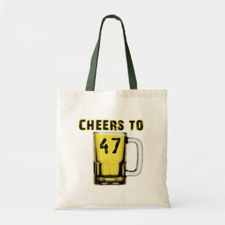 Cheers to Fourty Seven Birthday Canvas Bags