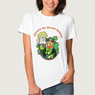 cheers to green beers t shirt