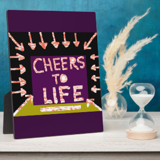 Cheers to Life -  Artist crafted Motifs Plaque