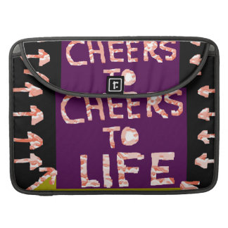 Cheers to Life -  Artist crafted Motifs Sleeves For MacBook Pro