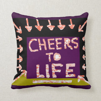 Cheers to Life -  Artist crafted Motifs Throw Pillow