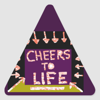 Cheers to Life -  Artist crafted Motifs Triangle Sticker
