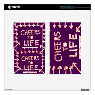 CHEERS to Life - Floral and Text Patterns Kindle Fire Skin