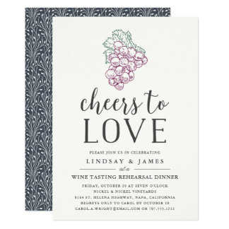 Cheers to Love | Rehearsal Dinner Invitation