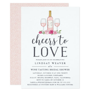 Cheers to Love | Wine Tasting Bridal Shower Invite