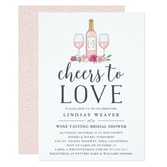 Cheers to love wine tasting bridal shower invite zazzle cheers to love wine tasting bridal shower invite filmwisefo