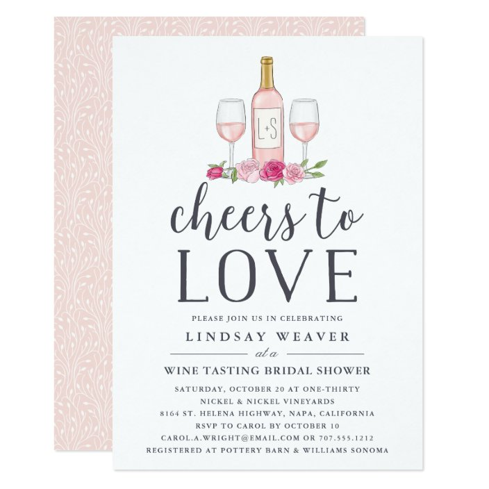 Wine Tasting Bridal Shower Invite