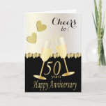 """Cheers to Our 50th Anniversary   DIY Text Card<br><div class=""""desc"""">Cheers to 50 years Anniversary Card. ⭐This Product is 100% Customizable. *****Click on CUSTOMIZE BUTTON to add, delete, move, resize, changed around, rotate, etc... any of the graphics or text. 99% of my designs in my store are done in layers. This makes it easy for you to resize and move...</div>"""